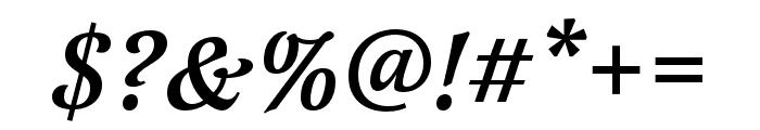 Latienne Pro Medium Italic Font OTHER CHARS