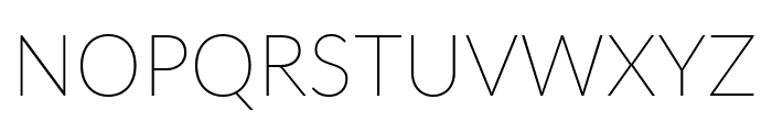 Lato Thin Font UPPERCASE