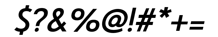 Le Havre Rounded Bold Italic Font OTHER CHARS