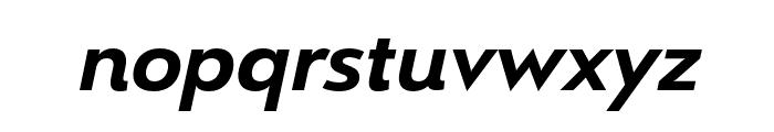 Le Havre Rounded Bold Italic Font LOWERCASE