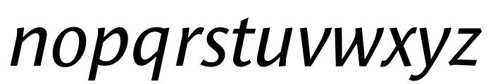 Le Monde Sans Std Book Italic Font LOWERCASE