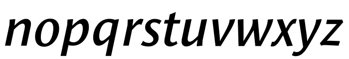 Le Monde Sans Std Demi Italic Font LOWERCASE