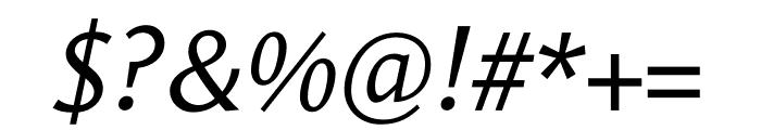 Le Monde Sans Std Italic Font OTHER CHARS