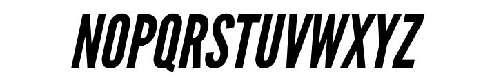 League Gothic Condensed Italic Font UPPERCASE