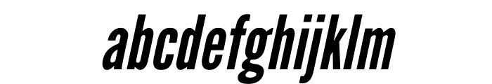 League Gothic Condensed Italic Font LOWERCASE