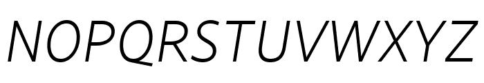 Lemance Light Italic Font UPPERCASE