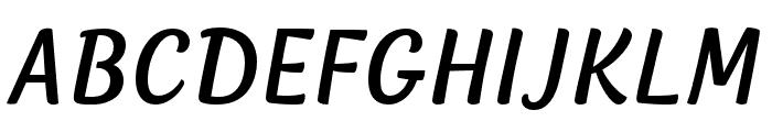 Lemongrass Caps Regular Italic Font LOWERCASE