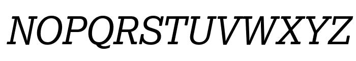 Lexia Advertising Italic Font UPPERCASE
