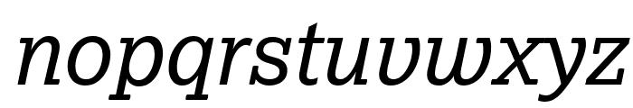Lexia Advertising Italic Font LOWERCASE