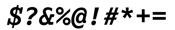 Lexia Mono Bold Italic Font OTHER CHARS