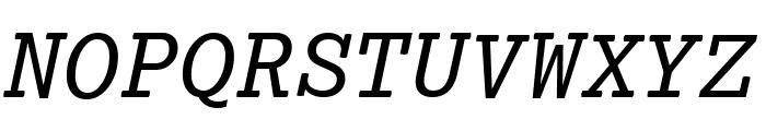 Lexia Mono Italic Font UPPERCASE