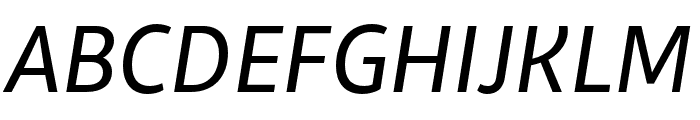 Libertad Regular Italic Font UPPERCASE