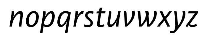 Libertad Regular Italic Font LOWERCASE