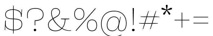 Liberteen Thin Font OTHER CHARS