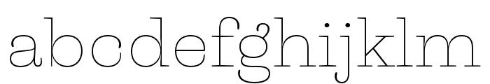 Liberteen Thin Font LOWERCASE
