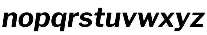 Libre Franklin Bold Italic Font LOWERCASE