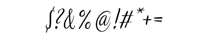 LiebeGerda Regular Italic Font OTHER CHARS