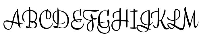 Liza Caps Pro Regular Font UPPERCASE