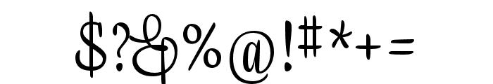 Liza Display Pro Regular Font OTHER CHARS