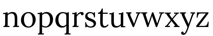 Lora Regular Font LOWERCASE