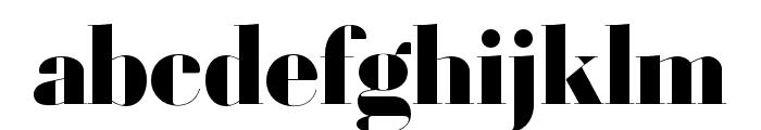 Louvette Banner Black Font LOWERCASE