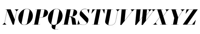 Louvette Banner Bold Italic Font UPPERCASE