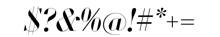 Louvette Banner Italic Font OTHER CHARS