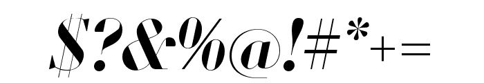 Louvette Banner Semi Bold Italic Font OTHER CHARS