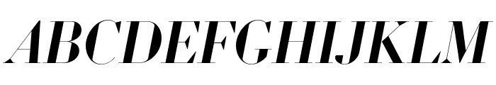Louvette Banner Semi Bold Italic Font UPPERCASE