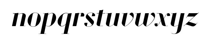 Louvette Banner Semi Bold Italic Font LOWERCASE