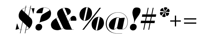 Louvette Banner Ultra Italic Font OTHER CHARS