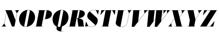 Louvette Banner Ultra Italic Font UPPERCASE