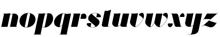 Louvette Banner Ultra Italic Font LOWERCASE