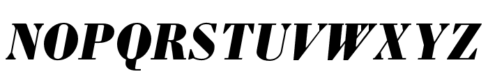 Louvette Deck Black Italic Font UPPERCASE