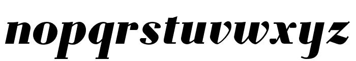 Louvette Deck Black Italic Font LOWERCASE