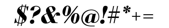 Louvette Deck Bold Italic Font OTHER CHARS