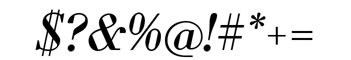 Louvette Deck Italic Font OTHER CHARS