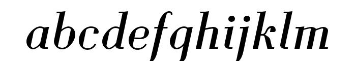Louvette Deck Italic Font LOWERCASE