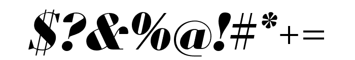 Louvette Display Black Italic Font OTHER CHARS