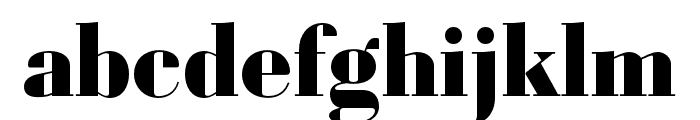 Louvette Display Black Font LOWERCASE