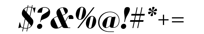 Louvette Display Bold Italic Font OTHER CHARS