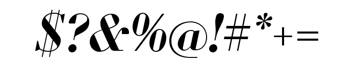 Louvette Display Semi Bold Italic Font OTHER CHARS