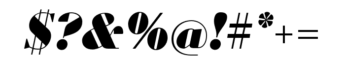 Louvette Display Ultra Italic Font OTHER CHARS