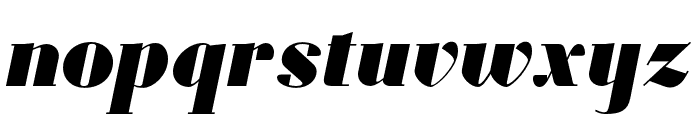 Louvette Display Ultra Italic Font LOWERCASE