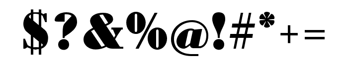 Louvette Text Ultra Font OTHER CHARS