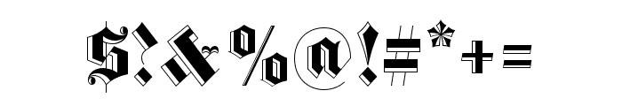 Luke Medium200 Font OTHER CHARS