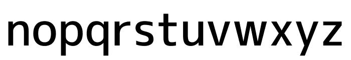 M+ 1c Medium Font LOWERCASE