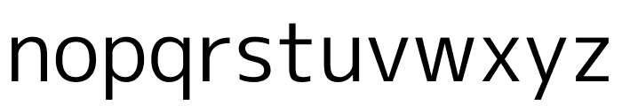 M+ 1c Regular Font LOWERCASE