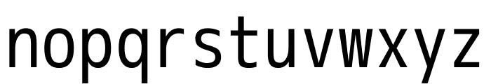M+ 1m Regular Font LOWERCASE