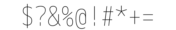 M+ 1m Thin Font OTHER CHARS